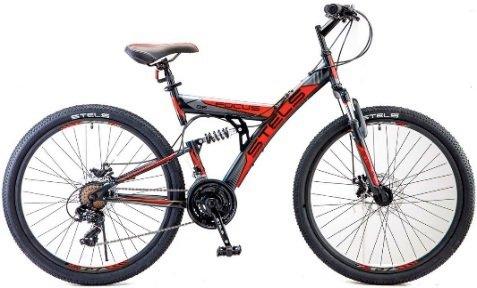 Купить STELS Велосипед горный Focus MD, черный/красный [LU073825], Велосипеды для взрослых и детей