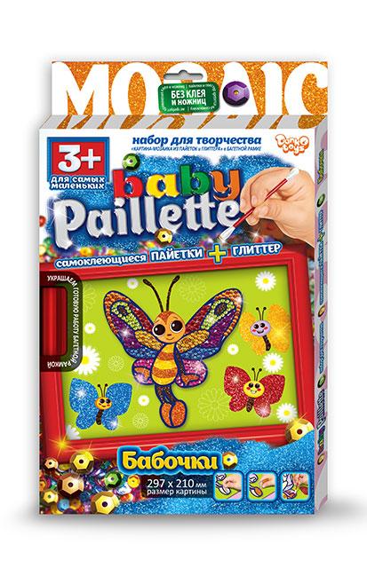 Купить DANKO TOYS Набор для творчества Baby Paillette. Бабочка [PG-01-03], Детские товары