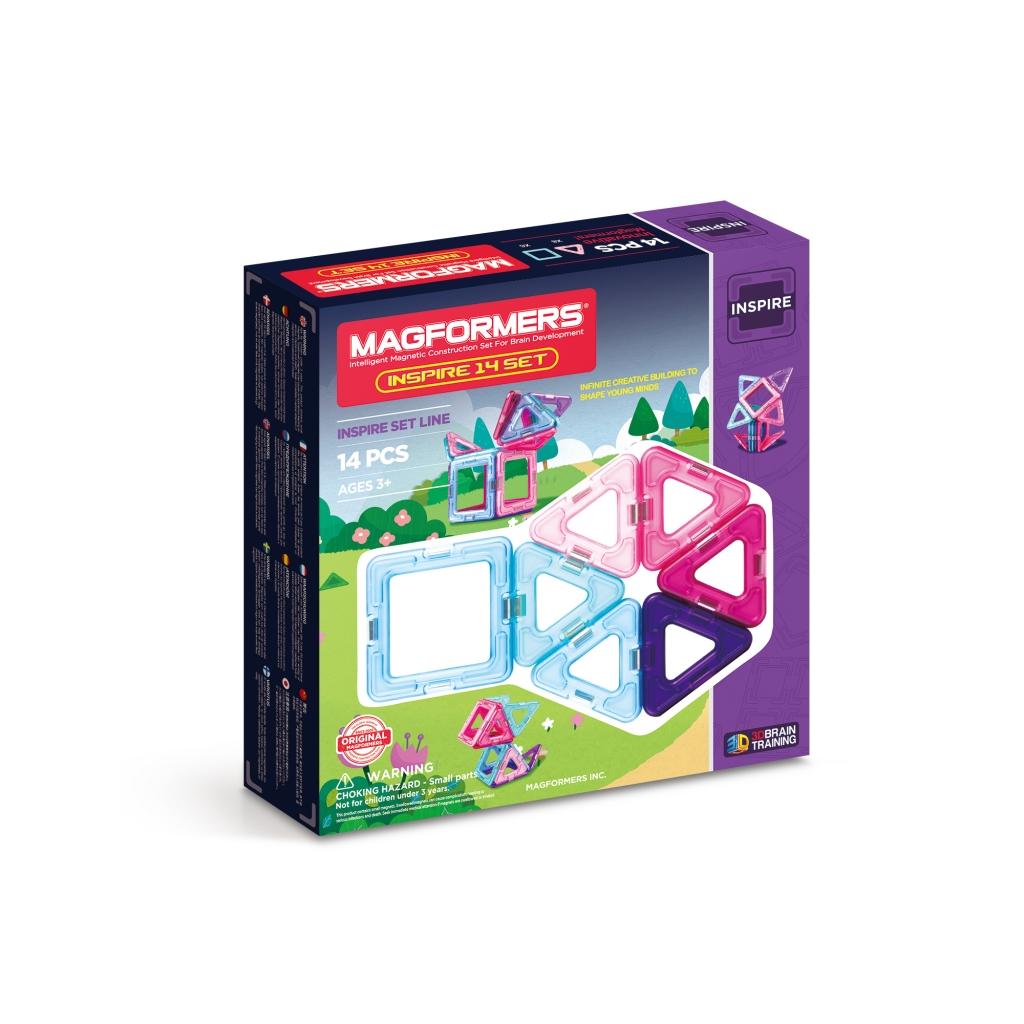 Купить Магнитный конструктор MAGFORMERS 704001 Inspire 14 set, пластик, магнит, Для мальчиков и девочек, Китай, Конструкторы
