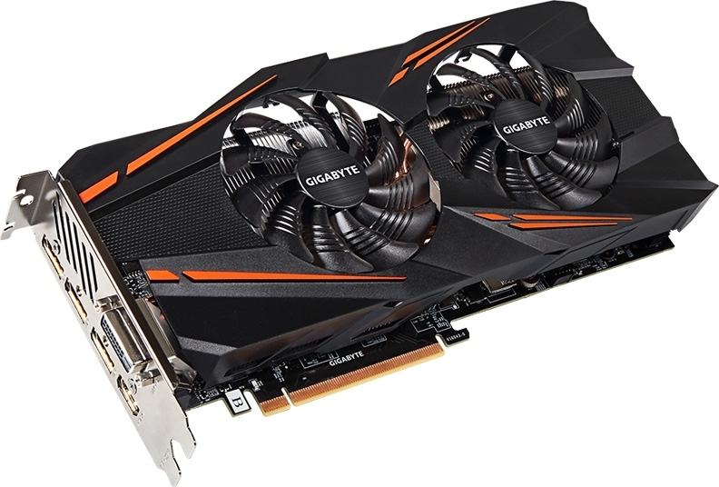 Купить Видеокарта Gigabyte PCI-Ex GeForce GTX 1070 Windforce OC 8GB GDDR5 256bit 1556/8008 DVI, HDMI, 3 x DisplayPort (GV-N1070WF2OC-8GD), NVIDIA GeForce GTX 1070, Китай
