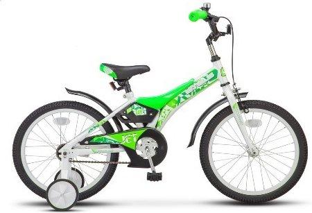 Купить LU077006, Детский велосипед STELS Jet (LU07700) бело-салатовый, Велосипеды для взрослых и детей