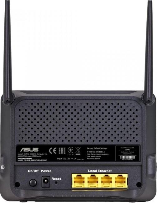 Картинка - WiFi роутер (маршрутизатор) ASUS 4G-N12 802.11b.g.n SIM/USIM 3G/LTE