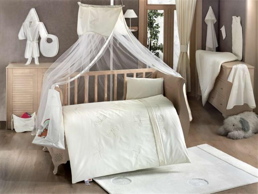 Купить KIDBOO Комплект постельного белья Vanilla Dreams (3 предмета) [00-0012290], бледно-зеленый, Хлопок, Для мальчиков и девочек, Постельное белье для малышей