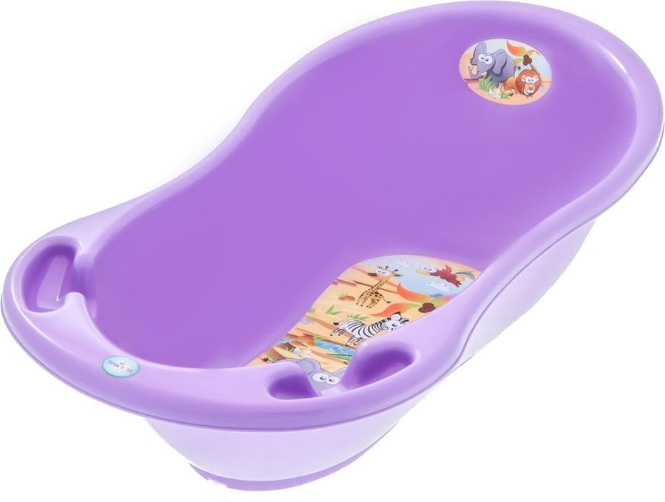 Купить ТЕГА Ванна овальная 86см SAFARI (САФАРИ) фиолетовый [SF-004-128], Ванночки для малышей