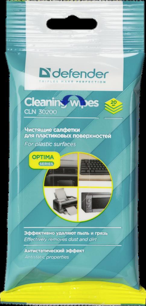 Картинка - Салфетки для поверхностей Defender CLN 30200 Optima 20 шт