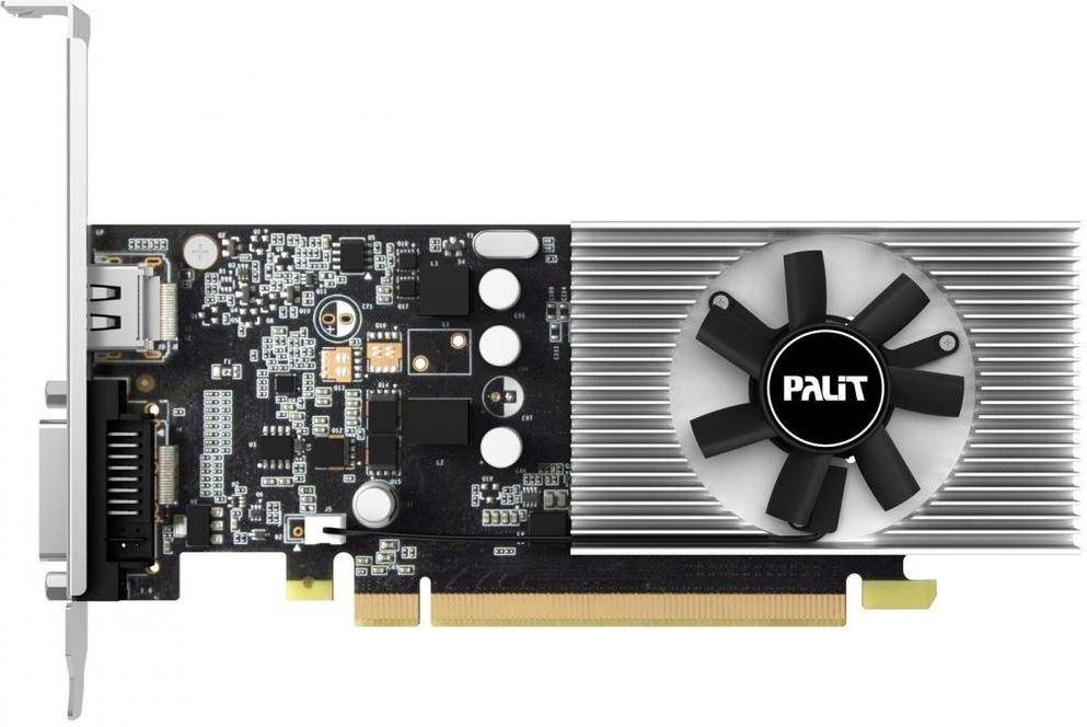 Видеокарта Palit PCI-Ex GeForce GT 1030 2GB GDDR5 (64bit) (1227/6000) (DVI, HDMI) (NE5103000646-1080F)