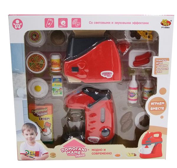 Купить ABTOYS Набор Кухонная техника с продуктами (термо-пот с тостером) [PT-00661(WK-C0295)], пластмасса, Детские кухни и бытовая техника