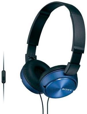 Купить Беспроводные наушники Sony MDR-ZX310AP Blue, Синий, Китай