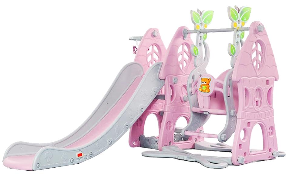 Купить Preschool SLW-G-6 розовый, Детский игровой комплекс Preschool (SLW-G-6) розовый, Розовый с серыми элементами, Китай, Игровые и спортивные комплексы и горки