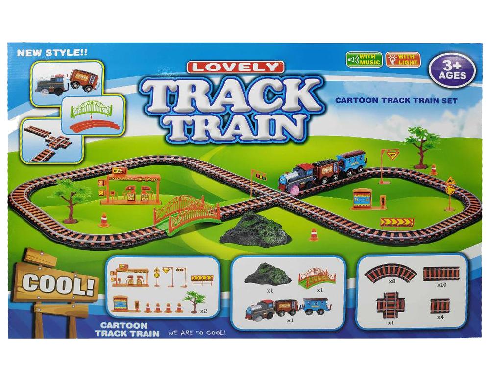 Купить Детская железная дорога Track Train (1848-8750), Пластик, Наборы игрушечных железных дорог, локомотивы, вагоны