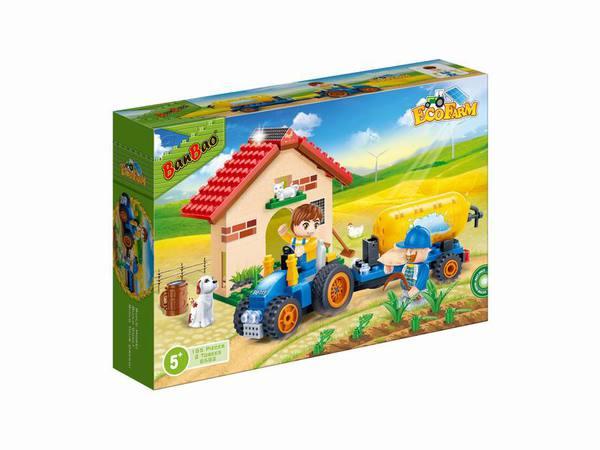 Купить BANBAO Конструктор Фермерский домик , 185 деталей [8582], пластмасса, Конструкторы