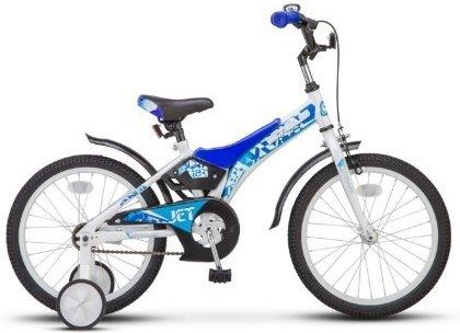Купить Детский велосипед STELS Jet (LU077120) бело-синий, Велосипеды для взрослых и детей