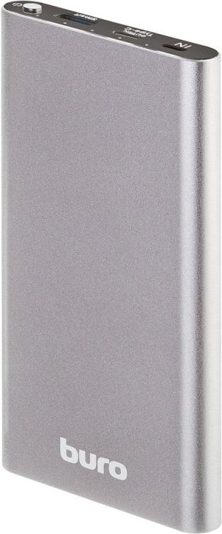 Купить Мобильный аккумулятор Buro RB-10000-QC3.0-I&O Li-Pol 10000mAh 3A+2A темно-серый 1xUSB (RB-10000-QC3.0-I&O), Серебристый, Китай