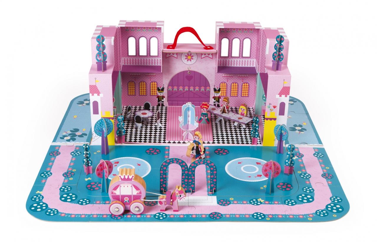Купить Игровой набор JANOD J02789 Замок принцессы, Дерево, Картон, Для мальчиков и девочек, Кукольные домики