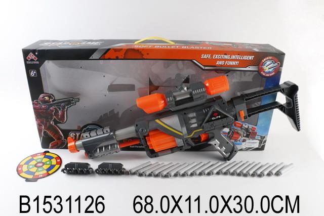 Купить SHANTOU Бластер c мягкими пулями, [201071], пластик, Игрушечное оружие и бластеры