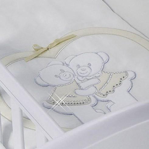 Купить FERETTI Набор в люльку для близнецов Baby Beddings Culla Gemell (цвет: avorio) [BB-CG-02], кремовый, Хлопок, синтепон, Для мальчиков и девочек, Покрывала, подушки, одеяла для малышей