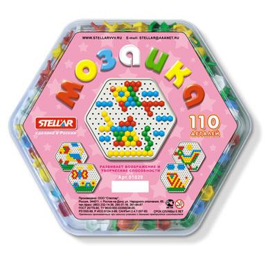 Купить STELLAR Мозаика (диаметр 13мм/110 деталей), шестигранная коробка [1034], полипропелен, Мозаика для детей