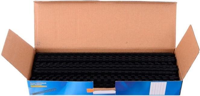 Купить Пружины для переплета пластиковые Office Kit 6мм (на 16-30 листов) черный (100шт) BP2000, Китай