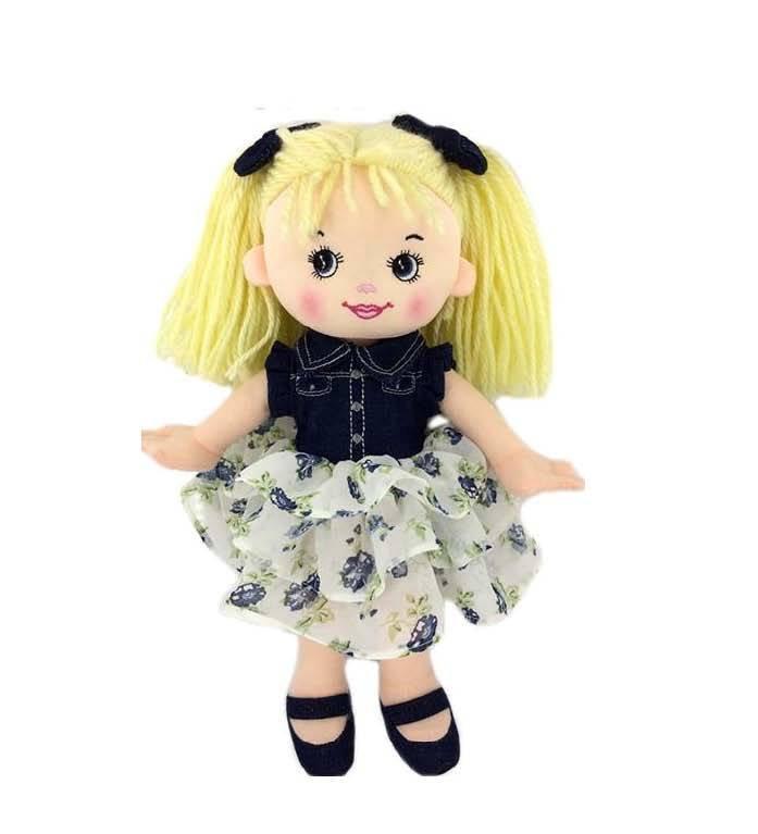 Купить Кукла мягконабиваная, джинсовая, 25 см [M6031], Abtoys, Куклы и пупсы