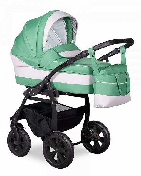Купить INDIGO Коляска 3-в-1 Indigo Sydney 17 F (цвет: зеленый/серый) [УТ0008046], серый, зеленый, пластик, Металл, ткань, Детские коляски