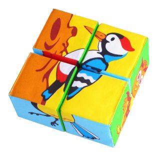 Купить МЯКИШИ Кубики Собери картинку. Птицы [239], Кубики для малышей