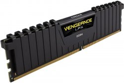 Оперативная память DIMM 16 Гб DDR4 3000 МГц Corsair Vengeance LPX Black (CMK16GX4M1B3000C15) PC-24000