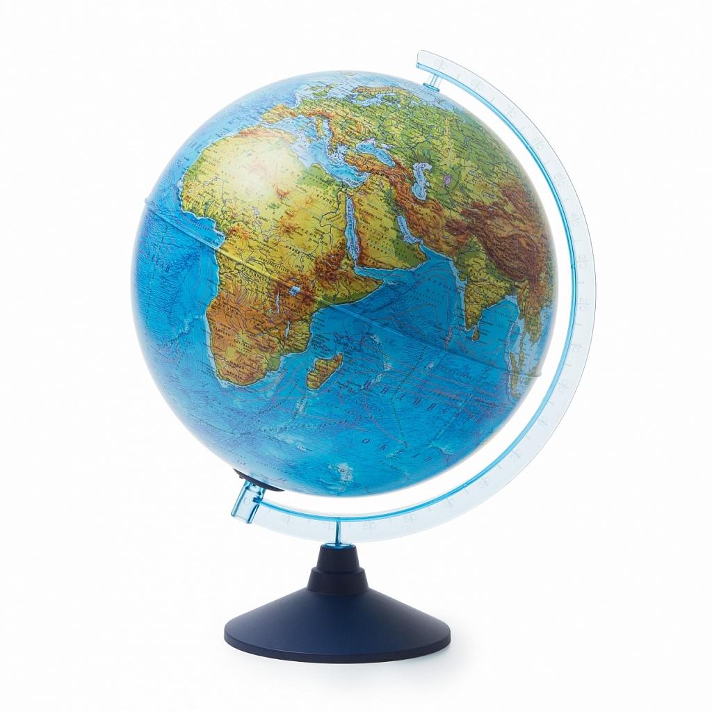 Купить Глобус GLOBEN Ве013200264 Физико-политический (батарейки) 320, пластик, Для мальчиков и девочек, Россия, Школьные глобусы