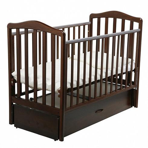 Купить PAPALONI Детская кроватка Винни (маятник, 120х60 см, цвет: орех шоколадный) [00-0009413], дсп, бук, Кроватки детские