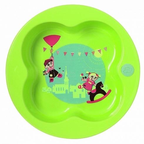 Купить BEBE CONFORT Тарелка в форме лаврового листа Bebe Confort, цвет зеленый, [31000301], полипропилен, Посуда для малышей