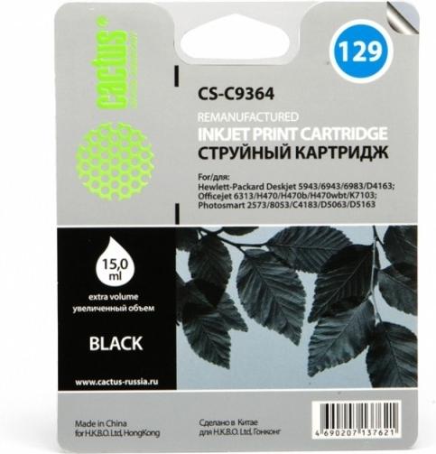 Струйный картридж Cactus CS-C9364 Black фото