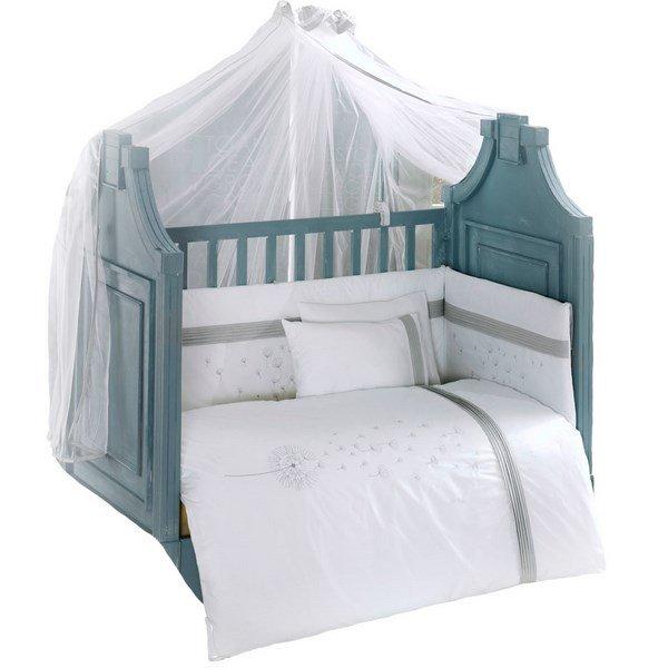 Купить KIDBOO Комплект постельного белья Blossom Linen (цвет: белый, 3 предмета) [00-0012143], Хлопок, Для мальчиков и девочек, Постельное белье для малышей