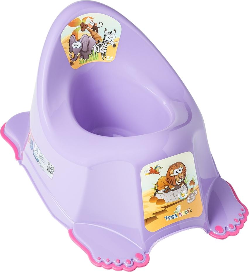 Купить ТЕГА Детский горшок антискользящий SAFARI (САФАРИ) фиолетовый [SF-011-128], Горшки и детские сиденья на унитаз