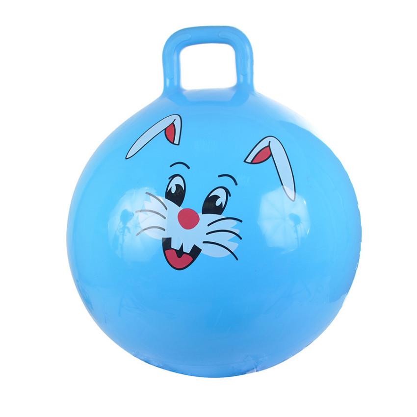 Купить SPRING INTERNATIONAL Надувной мяч Зайчик , 55 см (голубой) [41], Детские мячи и прыгуны