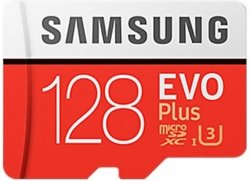 Карта памяти 128Gb microSDXC Class 10 Samsung Evo Plus + adapter SD (MB-MC128GA/RU)