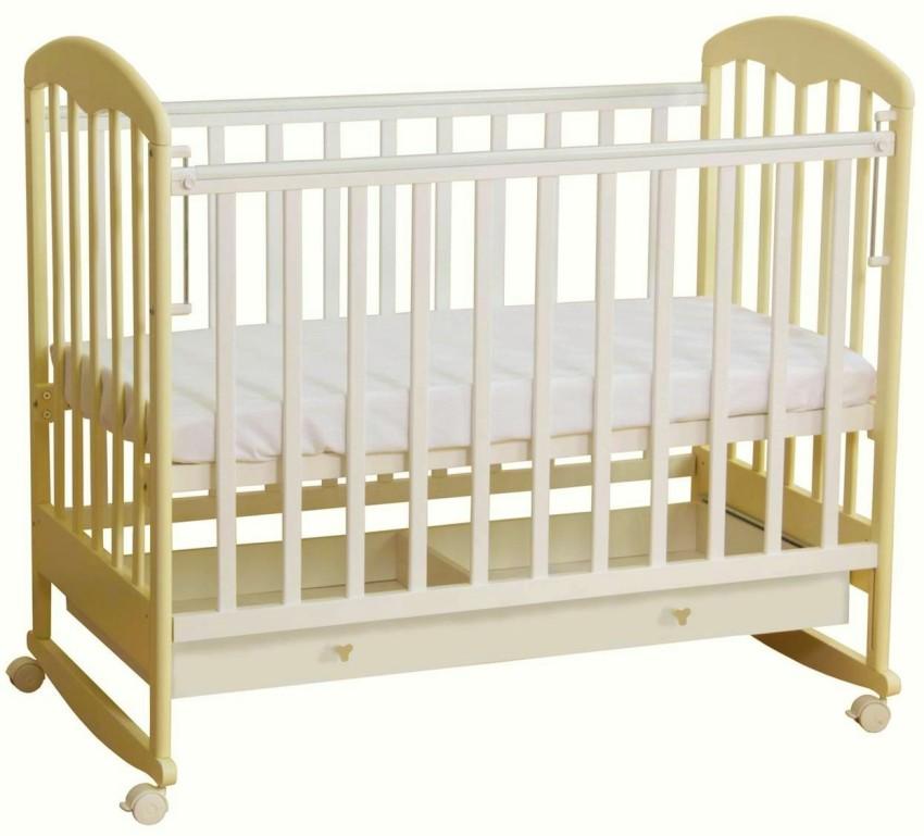 Купить ФЕЯ Кровать детская 325 (цвет: белый/ваниль) [0003019-13], белый, Ваниль, массив березы, Кроватки детские