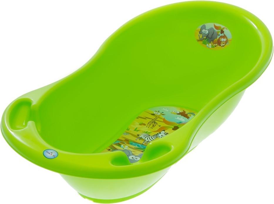 Купить ТЕГА Ванна овальная 86см SAFARI (САФАРИ) зеленый [SF-004-125], Ванночки для малышей