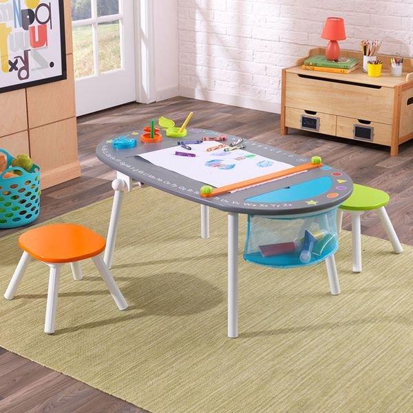 Купить KIDKRAFT Детский игровой набор стол и 2 стула [26956_KE], Комплекты мебели для детских комнат