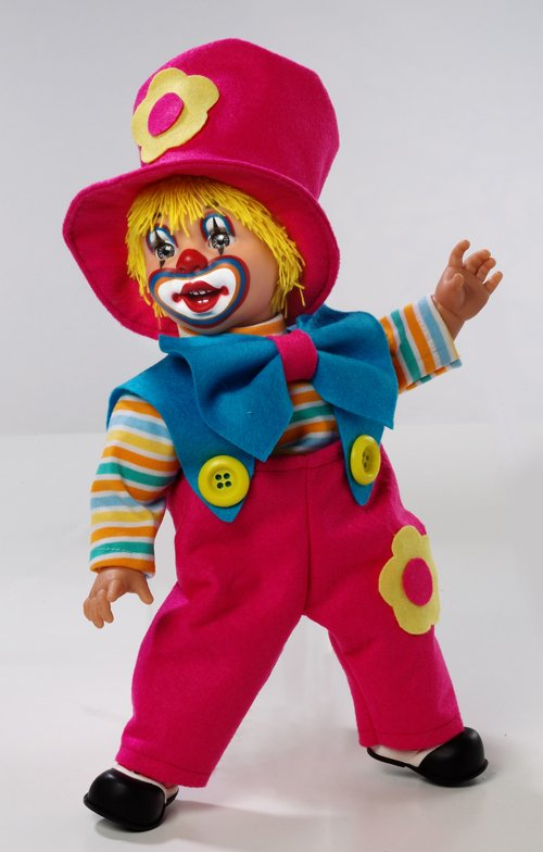 Купить ARIAS Клоун 38 см, пакет (винил, тесктильные материалы) [Т59767], Adik, Для девочек, Куклы и пупсы