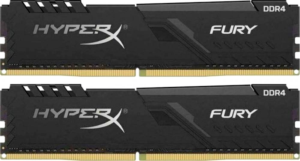 Оперативная память DIMM 32 Гб DDR4 3000 МГц HyperX Fury Black (HX430C15FB3K2/32) PC-24000, 2x 16 Гб KIT фото