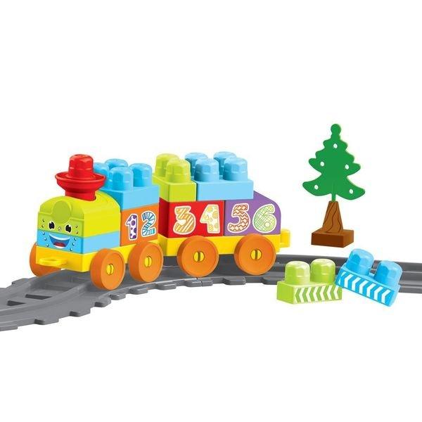 Купить DOLU Моя первая железная дорога с конструктором, 36 эл., 145 см [DL_5080], 54, 5 x 51, 5 x 10 см, Наборы игрушечных железных дорог, локомотивы, вагоны