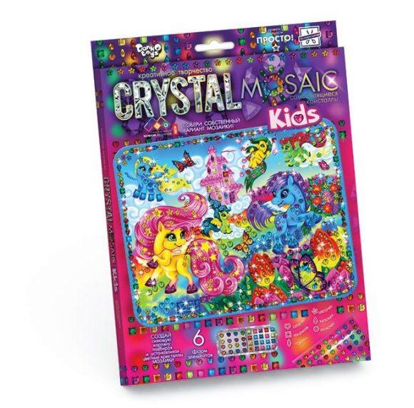 Купить ДАНКО-ТОЙС Набор креативного тв-ва Crystal Mosaic Kids Волшебные Пони [CRMk-01-01], Danko toys, пластик, бумага, клей, Украина, Бисер и бисероплетение