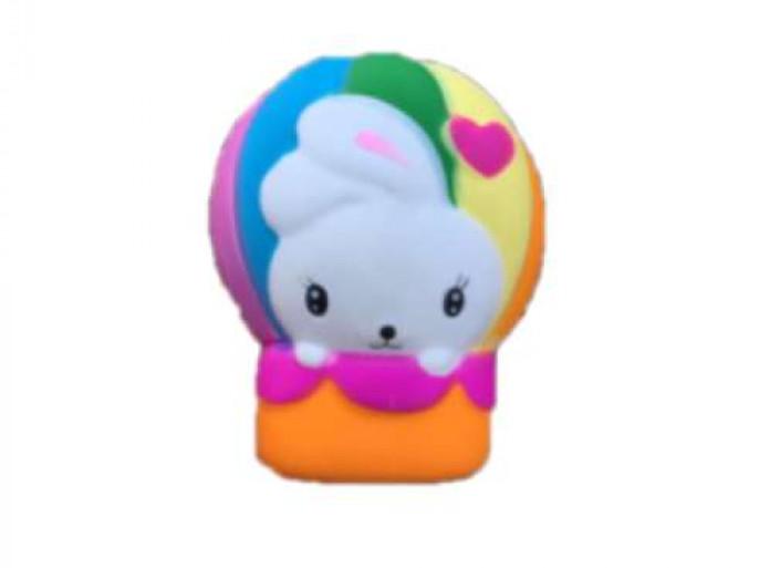 Купить 1 TOY Игрушка-антистресс М-м-мняшка. Зайчик в воздушном шаре , 10 см [Т14692], вспененный полимер, Игровые наборы и фигурки для детей