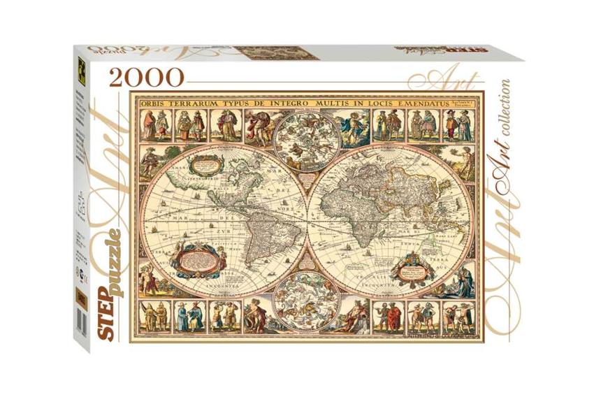 Купить СТЕП Пазл Историческая карта мира, 2000 элементов [84003], Степ Пазлы, Картон