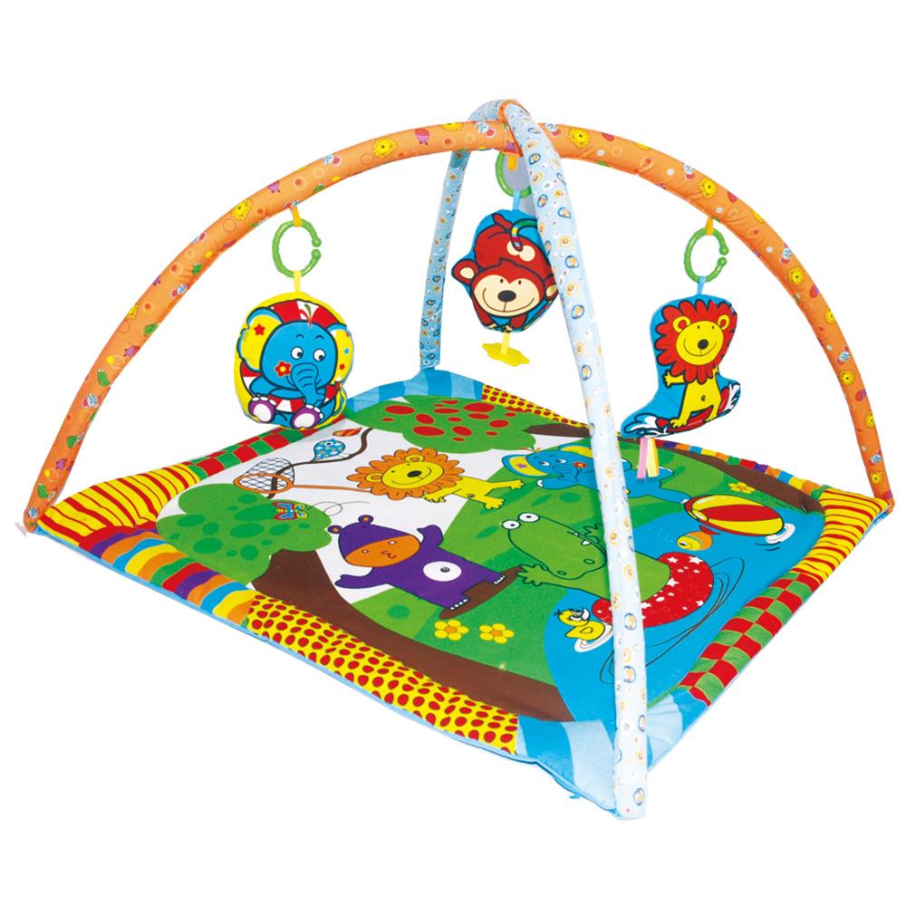 Купить BIBA TOYS Развивающий коврик МОИ ДРУЗЬЯ ИЗ ДЖУНГЛЕЙ 78x78x5 см [JF124], Китай, Развивающие коврики для малышей