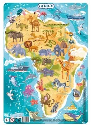 Купить DODO Пазл в рамке DoDo Африка , 53 элемента [R300175], Картон, Украина, Пазлы