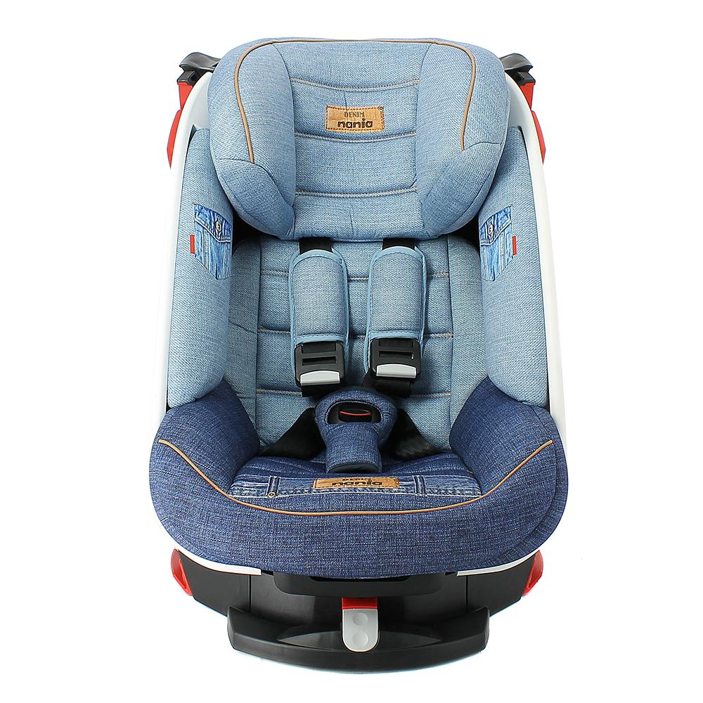 Купить NANIA SATURN Автокресло 9-18 кг DENIM BLUE Синий [288084], Франция, Детские автокресла