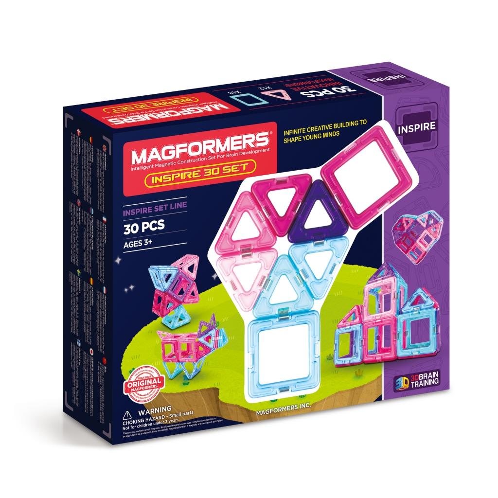 Купить Магнитный конструктор MAGFORMERS 704002 (63097) Inspire 30 set, пластик, магнит, Для мальчиков и девочек, Китай, Конструкторы