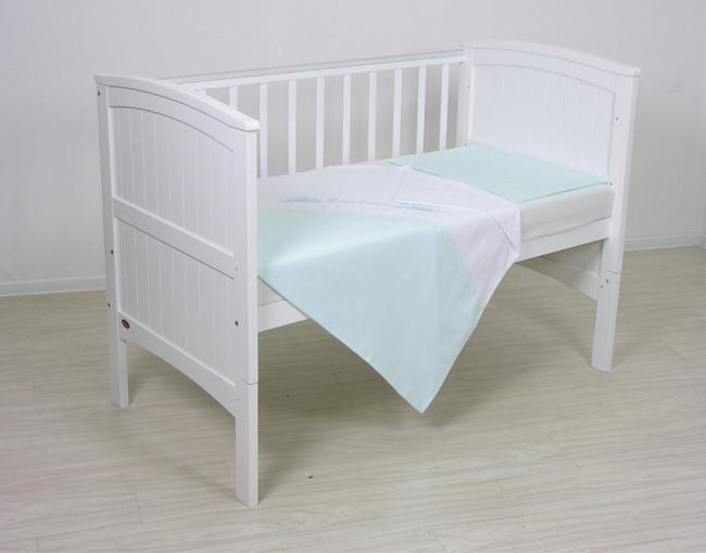 Купить FAIRY Комплект белья Сладкий сон (цвет: голубой/белый) [0005621], голубой, белый, Хлопок, Для мальчиков и девочек, Постельное белье для малышей