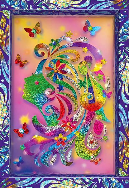 Купить КЛЕВЕР Набор для изготовления картины Клевер Романтика , 29x20x3 см, арт. АС 46-245 [АС 46-245], Наборы для создания украшений