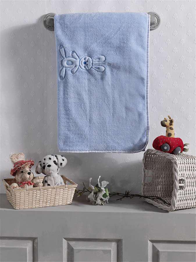 Купить KIDBOO Плед Rabbitoo (цвет: голубой, велсофт) [00-0011998], Голубой, Для мальчиков, Покрывала, подушки, одеяла для малышей